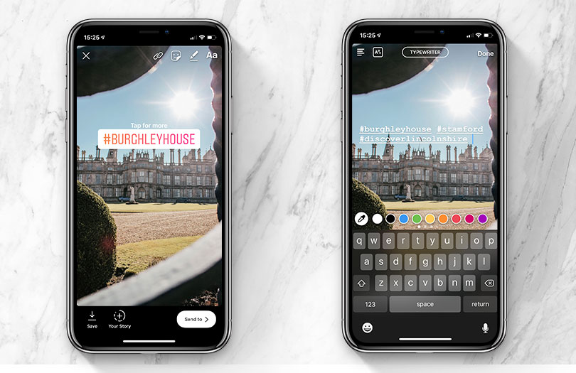 Instagram Stories Using Hashtags