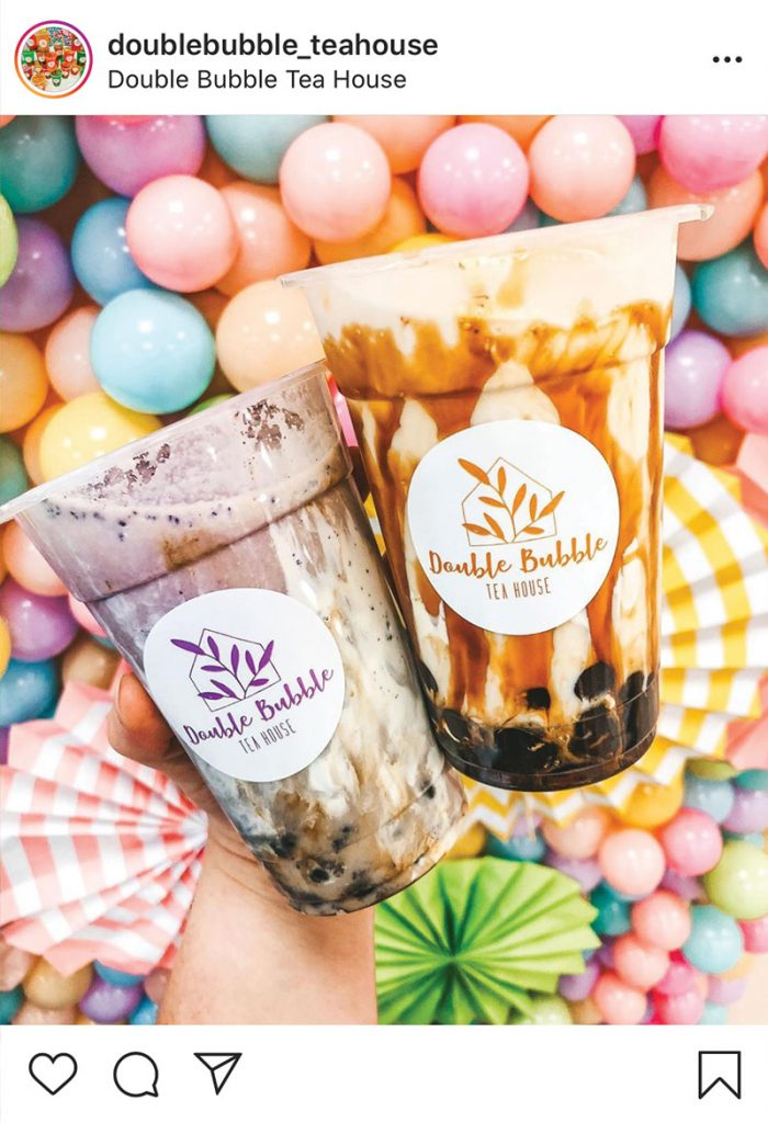 How to target a local audience on instagram - example - double bubble teahouse Peterborough - Lorna Scully Digital Marketing