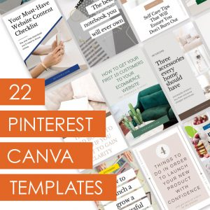 Pinterest Canva Templates - Lorna Scully - Digital Marketing Coach