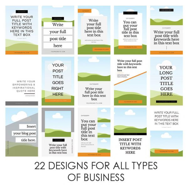 Pinterest Templates For Business - Digital Marketing Consultant Lorna Scully