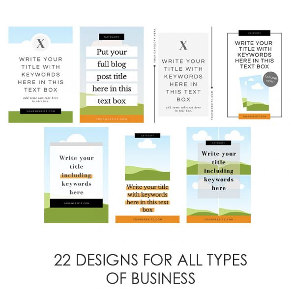 Pinterest Templates For Business - Digital Marketing Consultant Lorna Scully - 22 Designs