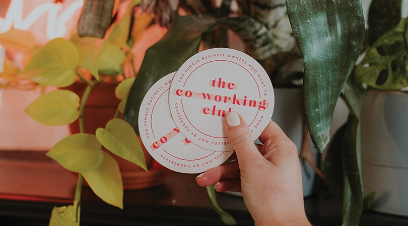 The Co-working club coasters
