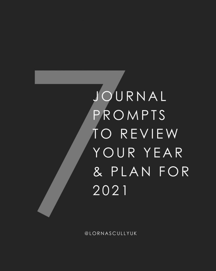 7 journal prompts to review your year & plan for 2021