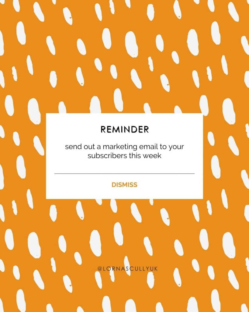 Email Marketing Reminder For Small Businesses