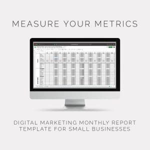 Measure your Metrics Reporting Template for small business owners by Lorna Scully